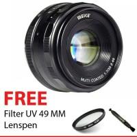 Lensa Fix Kamera Mirrorless MEIKE 35mm f/1.7 Canon EOS M1/M2/M3/M5/M10