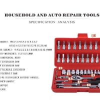 Jual High Quality 46 in 1 Household and Car Auto Repair Tool Ratchet Wrench Murah