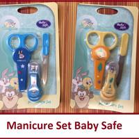 Jual EXCLUSIVE Manicure Set Baby (perlengkapang Gunting Kuku Bayi) Baby Saf Murah