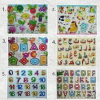 Jual Mainan Anak - Mainan Kayu - Puzzle Kayu - Puzzle Knob Kayu Murah