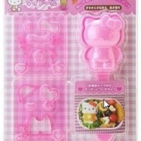 Jual Sale  Cetakan Bento Hello Kitty 3D Sanrio Nasi Sushi Mold DIY Nori Murah