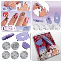Jual EXCLUSIVE Salon Express Nail Art Stamping Kit/Manicure Menghias Kuku K Murah