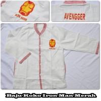 Jual Baju Koko Iron Man Merah (Size S) Murah