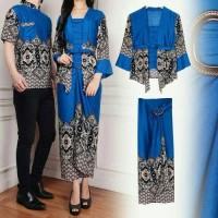 Couple Batik Set Kebaya MAULANI Blue