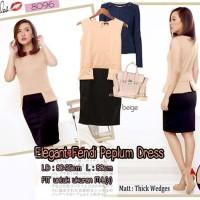 Jual PadcoElegant Fendi Peplum dress (90)Gold Murah