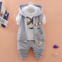 Jual Set Jacket Minion Abu Baju Setelan Anak Cowok Pakaian Anak Cowok Murah