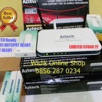 Paket Wifi Router Aztech HW550 & Modem 3G ZTE MF667 Seting Fly