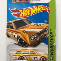 Hot Wheels '71 Datsun Bluebird 510 Wagon HW Workshop 2014 Hotwheels N1