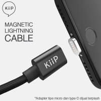 Jual Kabel data Magnetic USB Type C/Micro/ Lightning 3IN1 For IOS & Android Murah