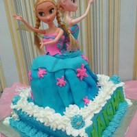 Jual elsa ana barbie doll cake Murah