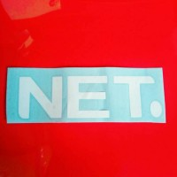 stiker logo tv net sticker net tv cutting sticker kualitas premium