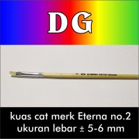 Jual Kuas Cat Lukis model bulu flat merk Eterna no.2 Murah