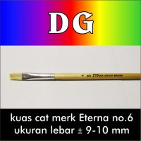 Jual Kuas Cat Lukis model bulu flat merk Eterna no.6 Murah
