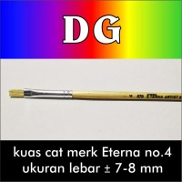 Jual Kuas Cat Lukis model bulu flat merk Eterna no.4 Murah