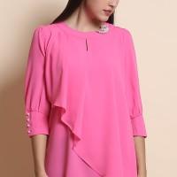 Jual Blus Flare Top Jucci L2614 - Pink Murah
