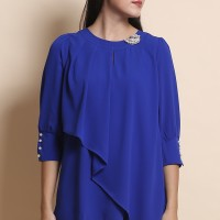Jual Blus Flare Top Jucci L2614 - Blue Murah