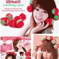 Jual Strawberry Roll Sponge Hair Curler Rambut Ikal Tanpa CATOK ( Isi 6pc) Murah