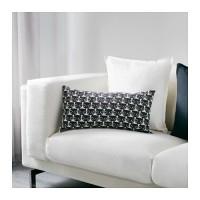 Jual IKEA MATTRAM Bantal kursi, putih, hitam,30x60 cm Murah