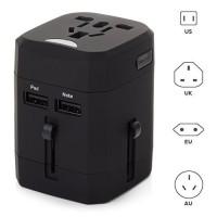 Jual Loop Universal Travel Adapter 4 in 1 US UK EU AU Plug with USB Port  Murah