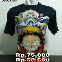 Jual Kaos Anime One Piece Spandex Murah
