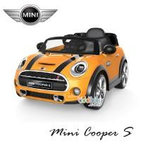 Mini Cooper Lisensi UK631  mainan mobil aki anak Pliko Pakai remote