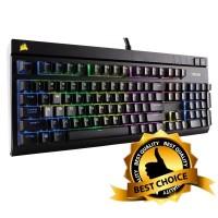 Jual Corsair STRAFE RGB Mechanical Gaming Keyboard - Cherry MX Silent Murah