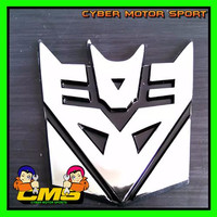 Jual new Emblem Transformer Chrome. emblem transformer deception. emblem mo Murah
