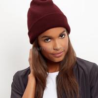 Jual RFT topi kupluk marun Burgundy maroon beanie hat import Murah