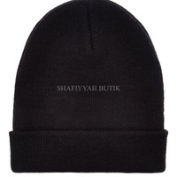 Jual RFT topi kupluk hitam black beanie hat import Murah