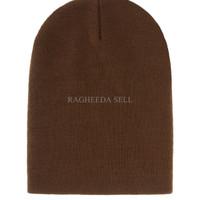 Jual GHJ topi kupluk coklat brown khaki beanie hat import Murah
