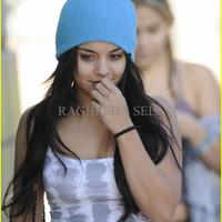 Jual GHJ topi kupluk biru muda baby blue beanie hat import Murah