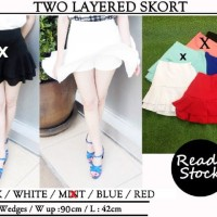 Jual TWO LAYERED SKORT (IMPORT BKK) Murah