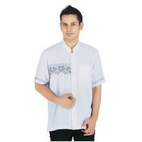 Jual Pakaian Muslim Baju Koko Pria Muslim Sarimbit Cotton Kelly Putih Murah