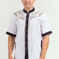Jual Baju Koko Muslim Pria Woolpeach Putih Murah