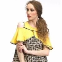 Jual Beyounique Cut Out Flare Sleeve Blouse Batik Combination Murah