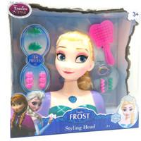 Jual maiinan anak edukasii Styling Head Boneka Muka Frozen Elsa Murah