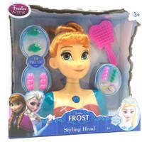 Jual maiinan anak edukasii Styling Head Boneka Muka Frozen Anna Murah