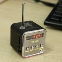 Speaker Mini FM Radio kecil, mp3 player with slot Micro SD dan USB