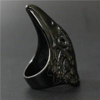 Cincin Titanium Ring man Cincin Tengkorak Dr bone Ring Black Eagle