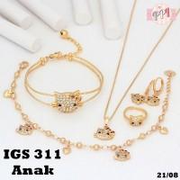 Jual Set Perhiasan Xuping Anak Hello Kitty Gold Lapis Emas 18k GS311 Murah