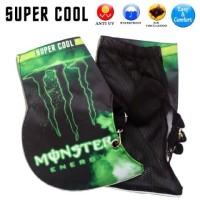 Jual Sarung Tangan Motor SUPERCOOL Monster Energy, Nempel di Stang Murah