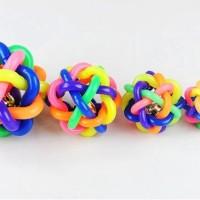mainan bola pelangi S dog toys cat toys lucu dan kuat (6 cm)
