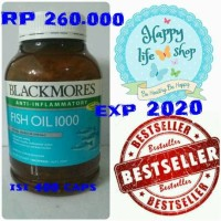 Jual Blackmores fish oil 1000mg isi 400 caps non odourless (berbau) Murah