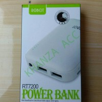 ROBOT RT7200 6600MAH 2 USB PORTS POWERBANK MINI WHITE