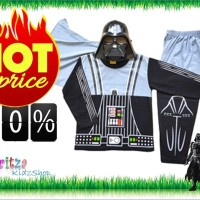Baju Anak / Stelan / Kostum Star Wars Darth 1-10 tahun