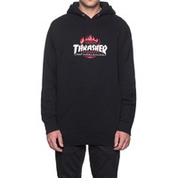 HUF x THRASHER Tour de Stoops black hoodie size M (ORIGINAL)