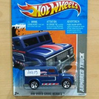 HOT WHEELS ARMORED TRUCK BLUE VIDEO GAME HEROES 2011 #229/244