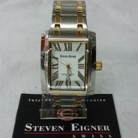 jam tangan pria steven eigner kombinasi gold original garansi 2th
