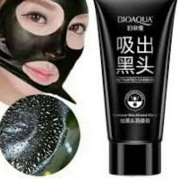 Jual BIOAQUA Activated Carbon Charcoal Remove Blackhead Mask [ Black Mask ] Murah