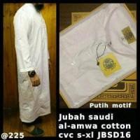 Jual baju gamis pria putih bahan cotton india serat halus adem baru Murah